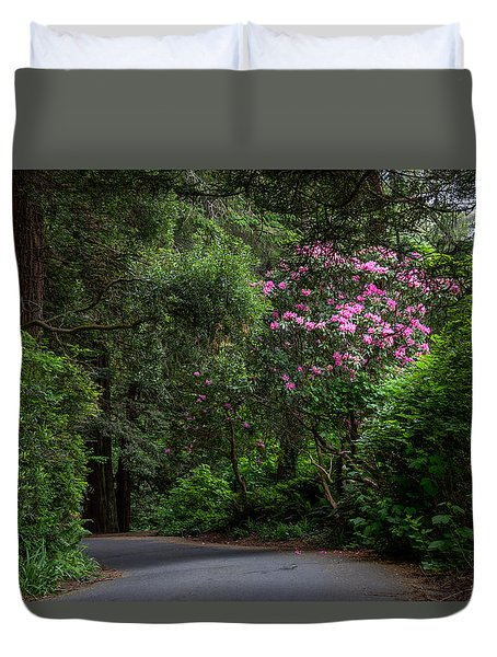 Rhodie By The Road Duvet Cover