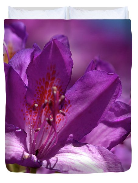 Rhododendron  Duvet Cover by Stephen Melia