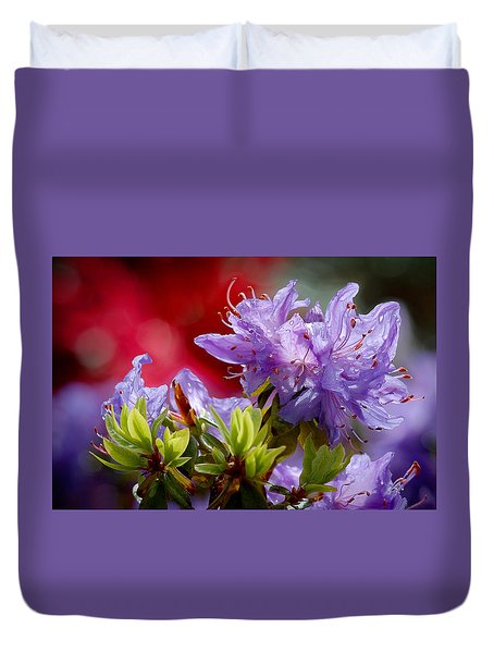 Rhododendron Bluebird Duvet Cover