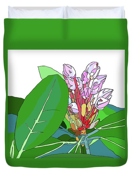 Rhododendron Graphic Duvet Cover