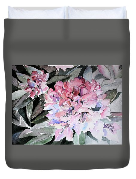 Rhododendron Rose Duvet Cover