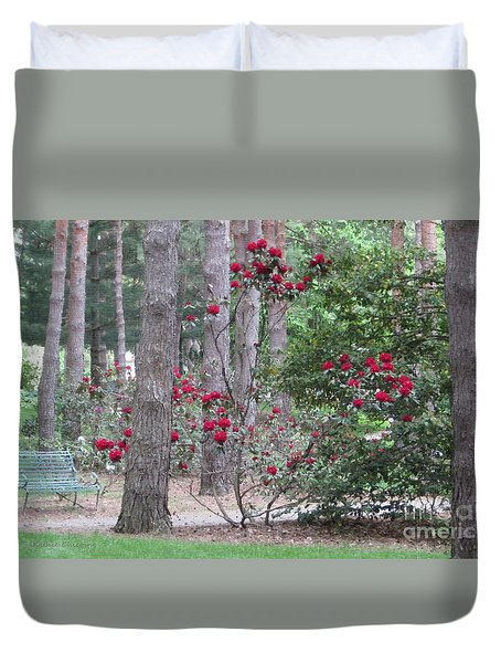 Duvet Cover featuring the photograph Rhododendrons In Lorain County by Kathie Chicoine