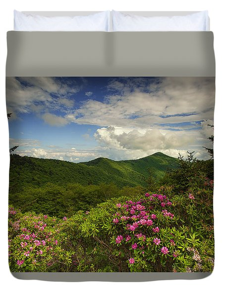 Rhododendrons On The Blue Ridge Parkway Duvet Cover