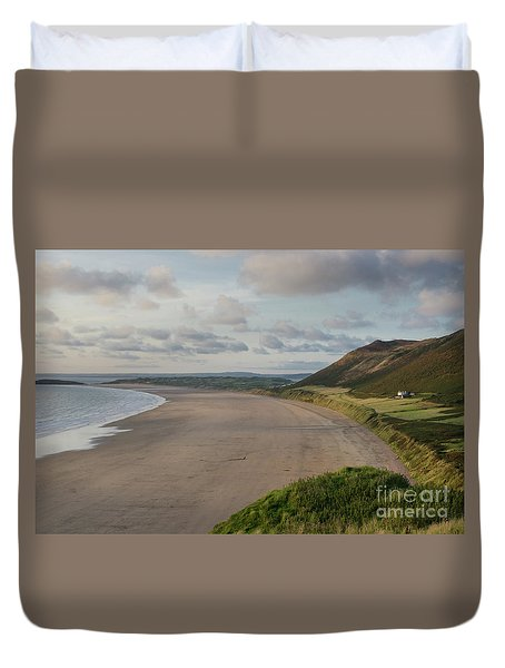 Rhossili Bay, South Wales Duvet Cover