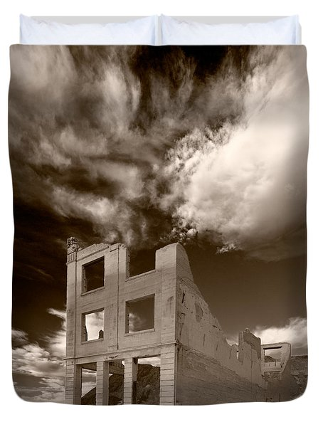 Rhyolite Nevada Ghost Town Duvet Cover