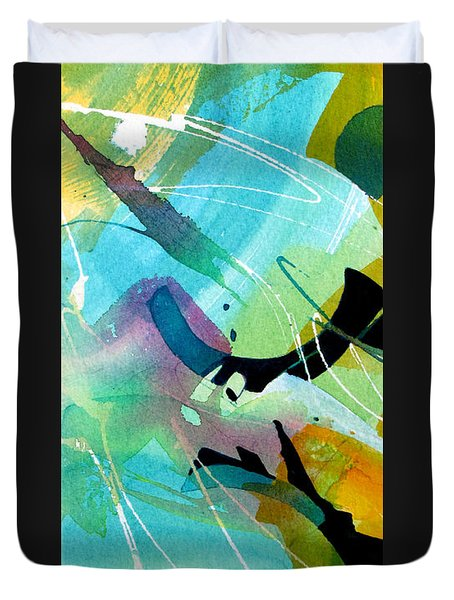 Duvet Cover featuring the painting Rhythm Of The Blues by Rae Andrews