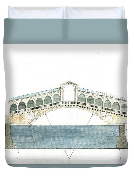 Rialto Bridge Venice Duvet Cover