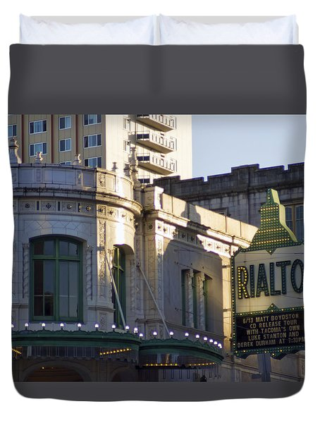 Rialto Tacoma Duvet Cover by Cathy Anderson