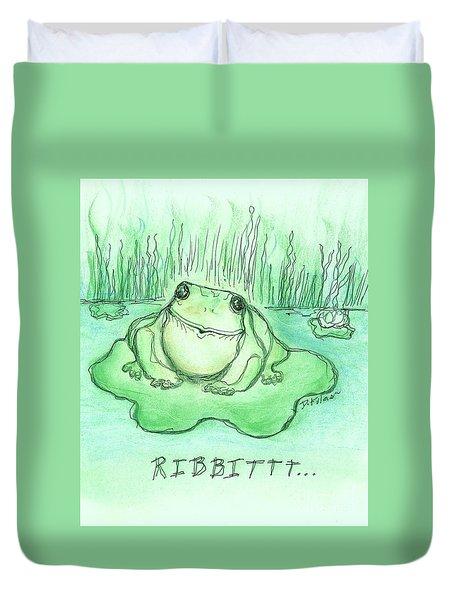 Ribbittt.... Duvet Cover