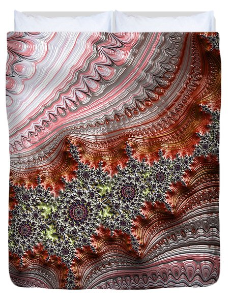Ribbon Candy Crystals Duvet Cover
