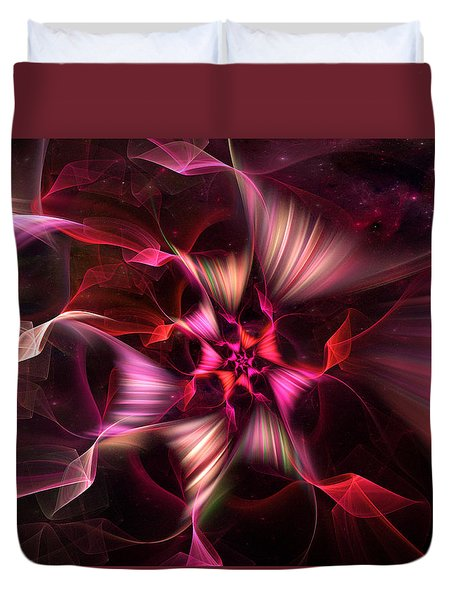 Ribbon Candy Rose Duvet Cover