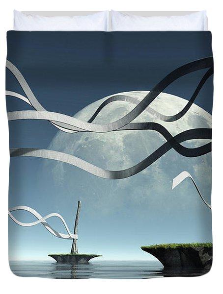 Ribbon Island Duvet Cover