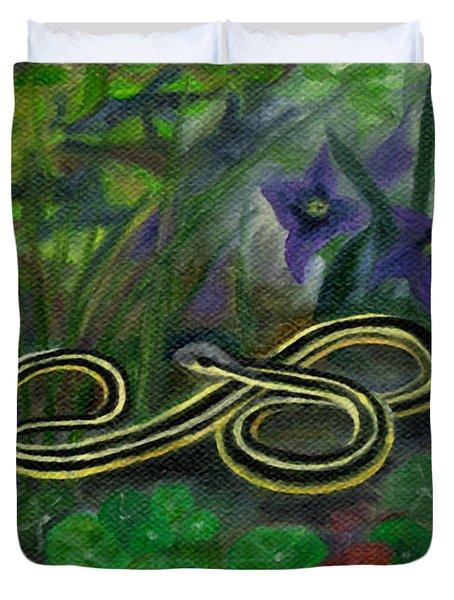 Ribbon Snake Duvet Cover