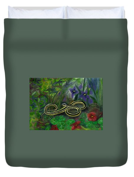 Ribbon Snake Duvet Cover