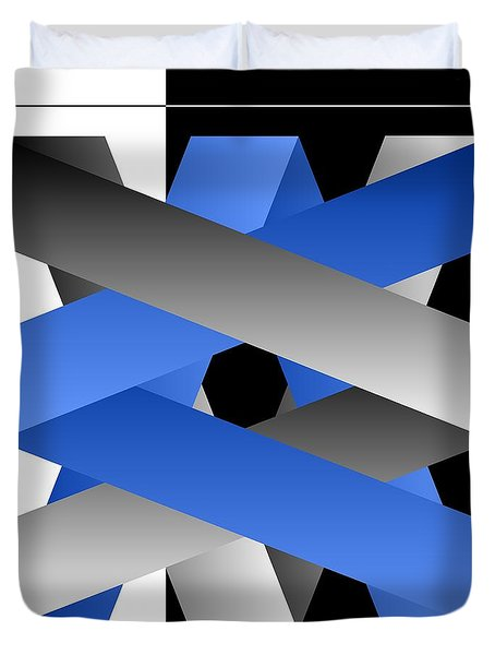 Duvet Cover featuring the digital art Ribbons by Leo Symon