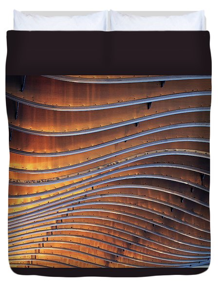 Ribbons Of Steel Duvet Cover