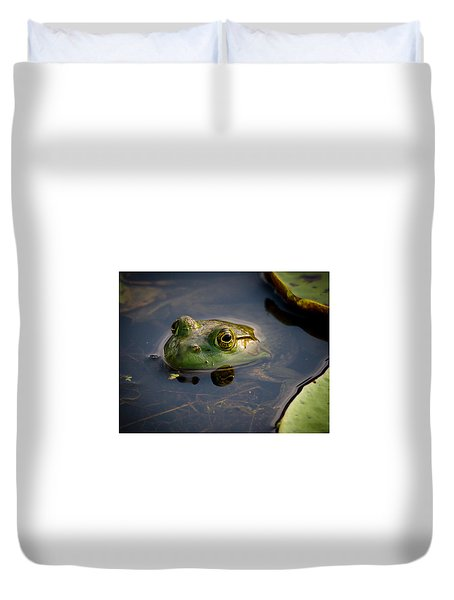 Duvet Cover featuring the photograph Ribit Ribit by Allen Biedrzycki
