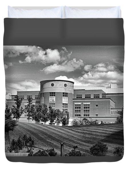 Rice Library II B W Duvet Cover
