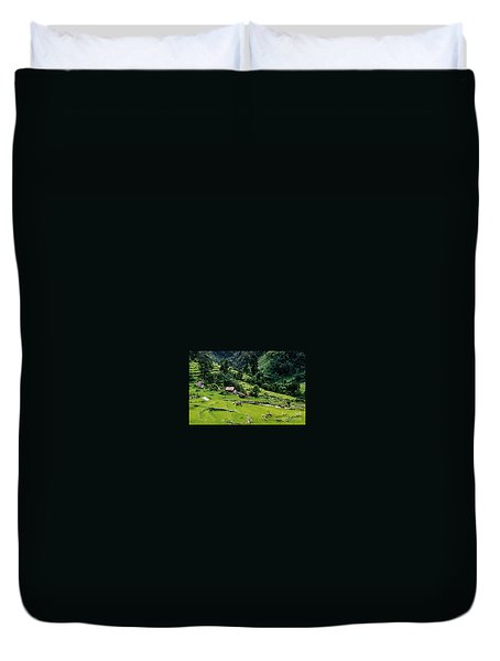 Duvet Cover featuring the photograph Rice Paddies by Suzanne Luft