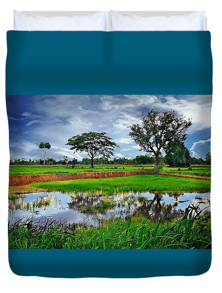 Rice Paddy View Duvet Cover