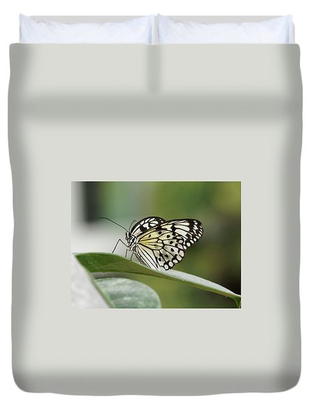 Duvet Cover featuring the photograph Rice Paper Butterfly - 2 by Paul Gulliver