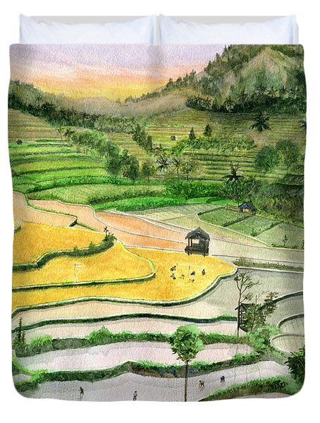 Ricefield Terrace II Duvet Cover