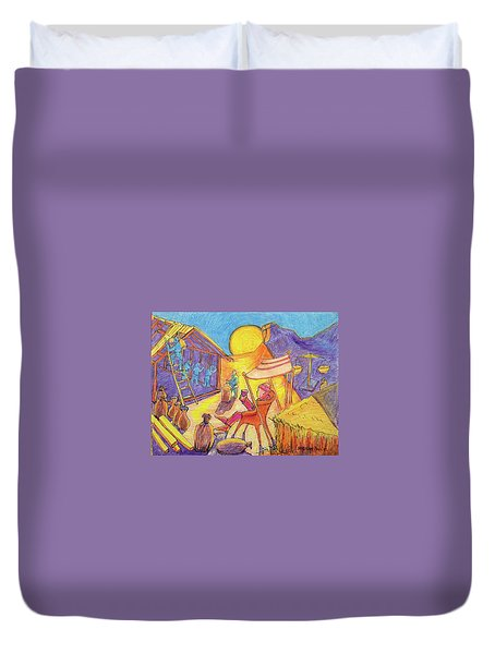 Rich Fool Parable Painting By Bertram Poole Duvet Cover