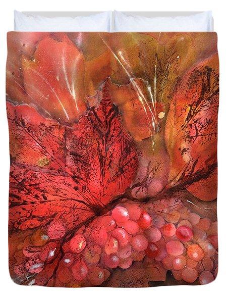 Rich Grape Harvest Duvet Cover