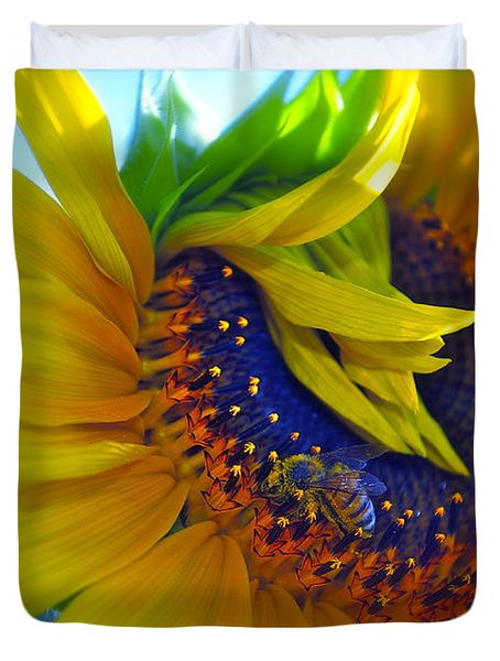 Rich In Pollen Duvet Cover