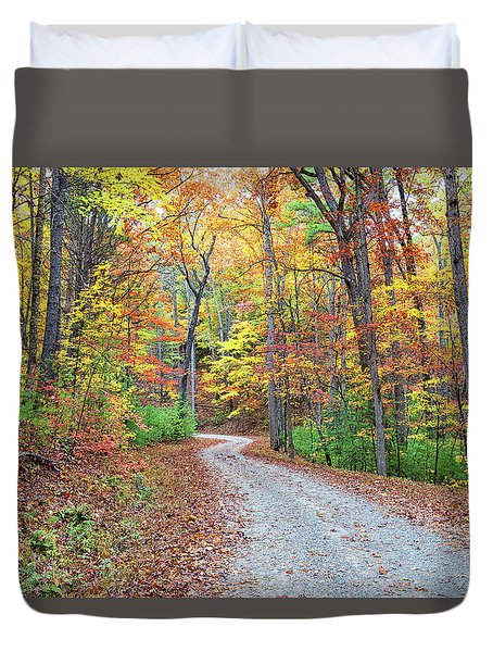 Rich Mountain Road Duvet Cover