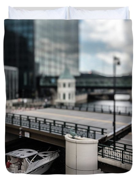 Rich People Holding Up Traffic In The Itty-bitty-city Duvet Cover