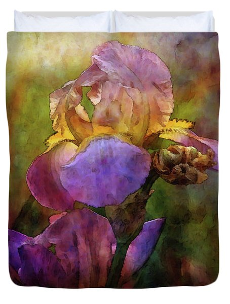Rich Purple Irises 0056 Idp_22 Duvet Cover