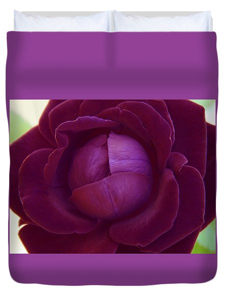Rich Purple Lettuce Rose Duvet Cover