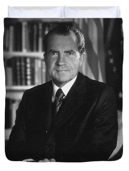 Richard Nixon - 37th President Of The United States Duvet Cover