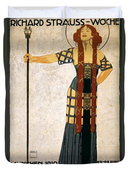 Richard Strauss-woche 1910 Poster Duvet Cover