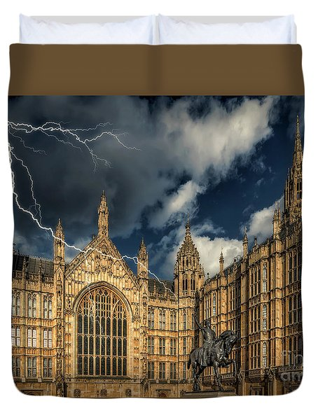 Duvet Cover featuring the photograph Richard The Lionheart by Adrian Evans