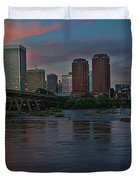 Richmond Dusk Skyline Duvet Cover