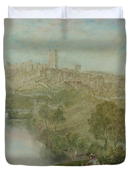 Richmond In Yorkshire Duvet Cover by Joseph Mallord William Turner