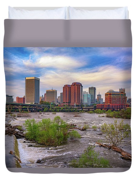 Duvet Cover featuring the photograph Richmond Skyline by Rick Berk