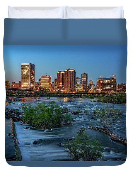 Duvet Cover featuring the photograph Richmond Twilight by Rick Berk