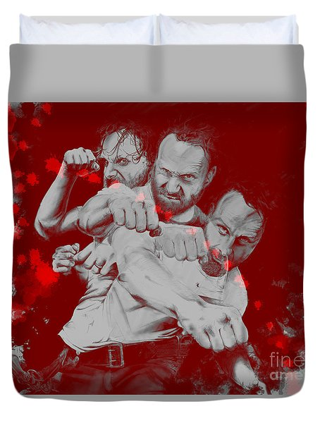 Rick Grimes Duvet Cover by David Kraig