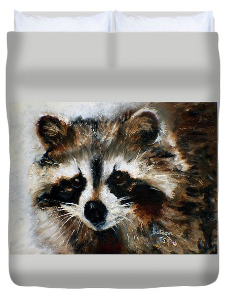 Rickey Raccoon Duvet Cover
