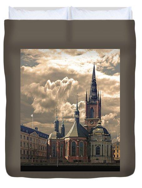 Riddarholm Church - Stockholm Duvet Cover by Jeff Burgess