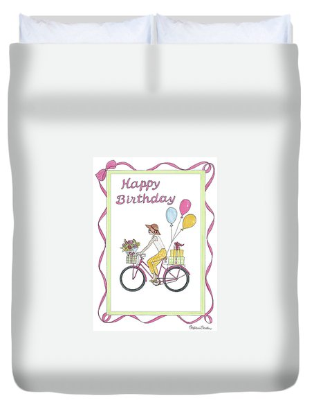 Ride In Style - Happy Birthday Duvet Cover