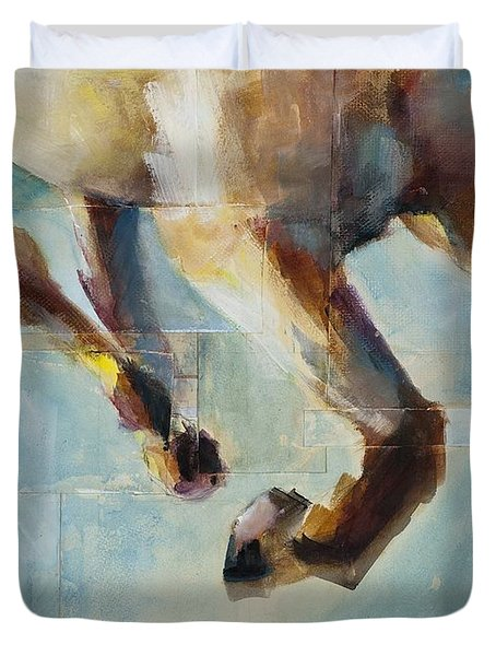 Ride Like You Stole It Duvet Cover by Frances Marino