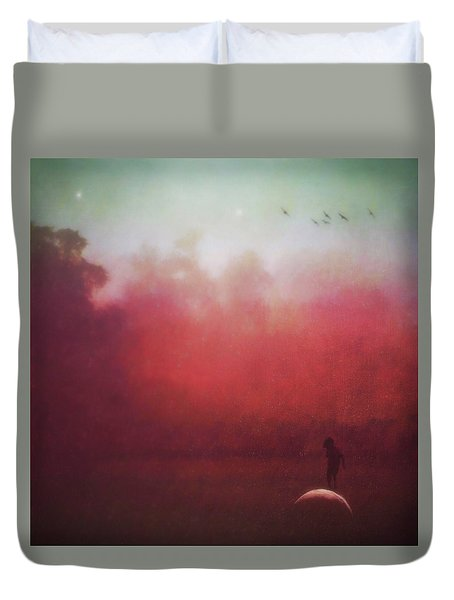 Ride The Moon Duvet Cover