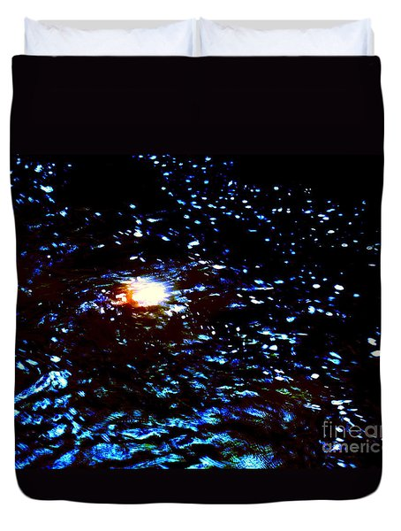 Ride Through Cosmos Duvet Cover