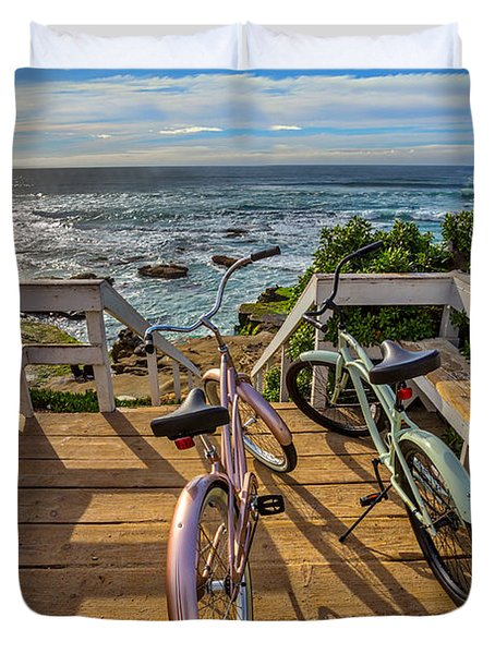 Ride With Me To The Beach Duvet Cover