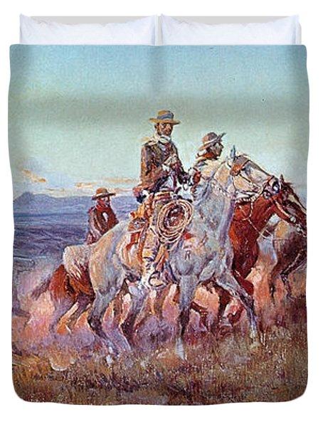 Riders Of The Open Range Duvet Cover