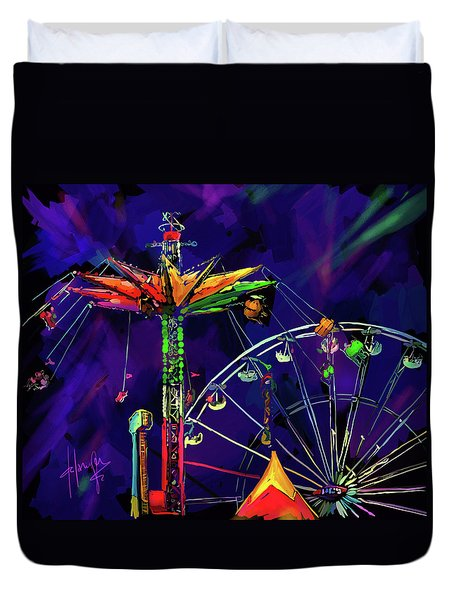 Rides At The Fair Duvet Cover